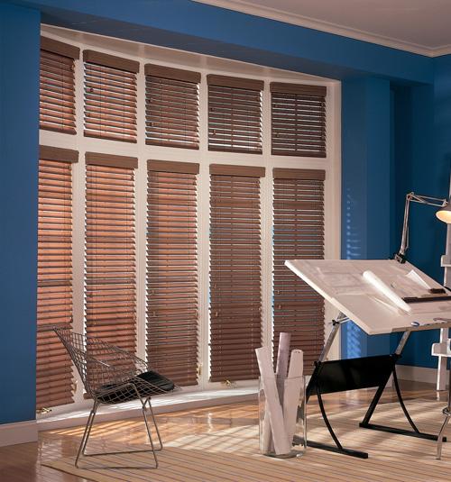 Comfortex S Shaped wood blinds