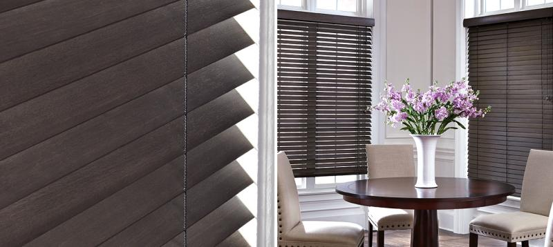 woods blinds sierra hunter wood classic chalet treatments window clean coverings douglas